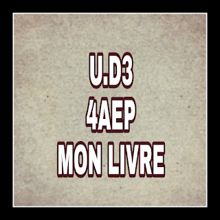 UD3 Mon livre de français 4AEP جذاذات الوحدة الثالثة