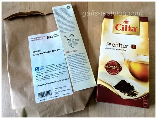 Shuyao Tea und Cilia Teefilter