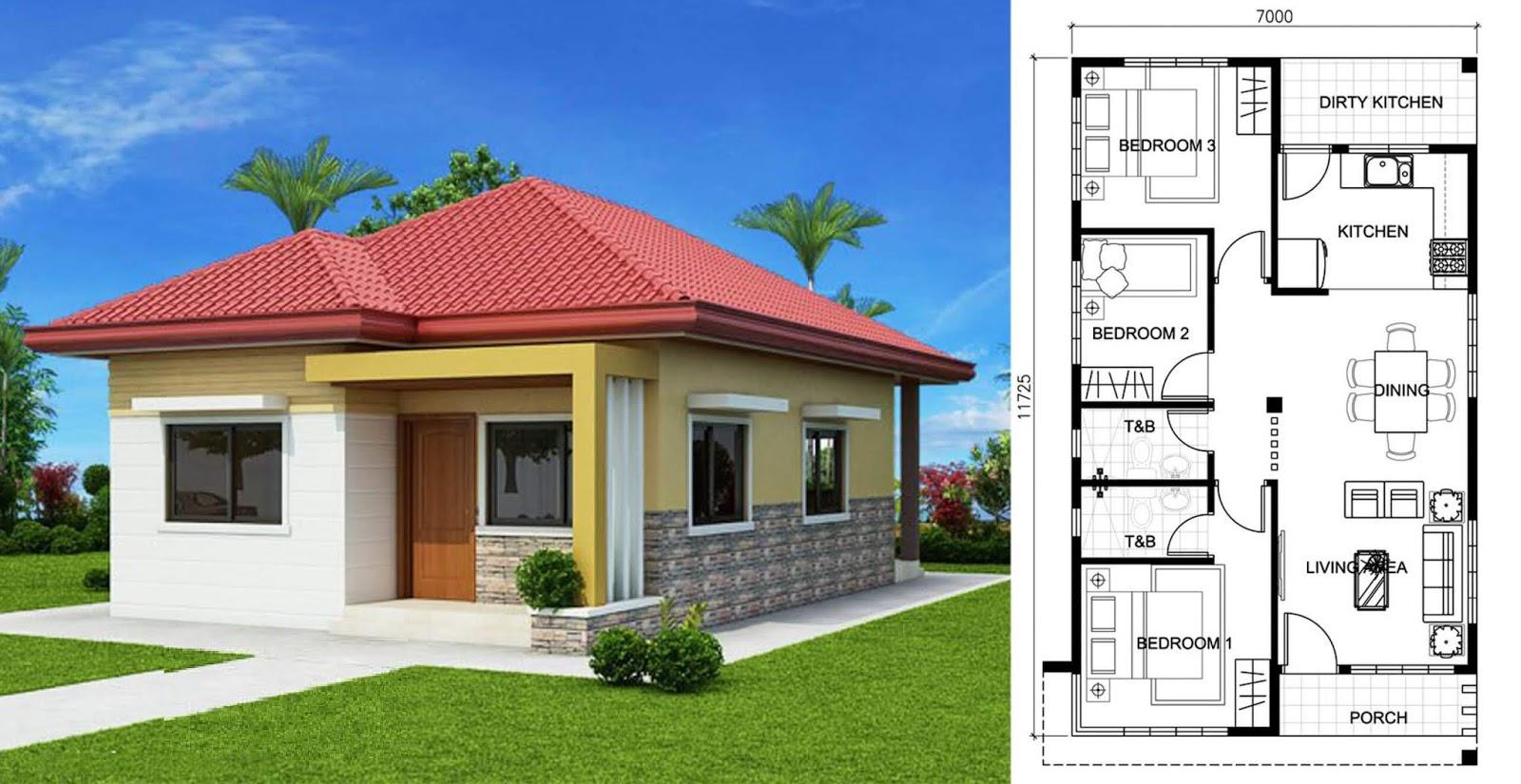 Plan Maison 80m2 Avec 3 Chambres Plan De