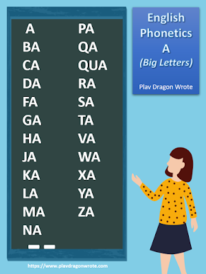 The English Phonetics in Big Letters - Effective Reading Guide for Kids