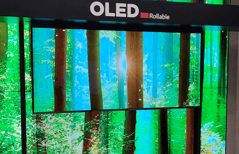 LG rollable OLED TV can now deploy downwards