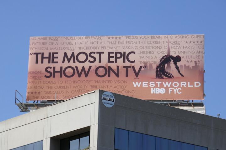 Westworld season 3 Emmy FYC billboard