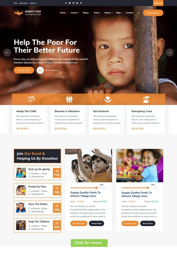 Charity Nonprofit Template