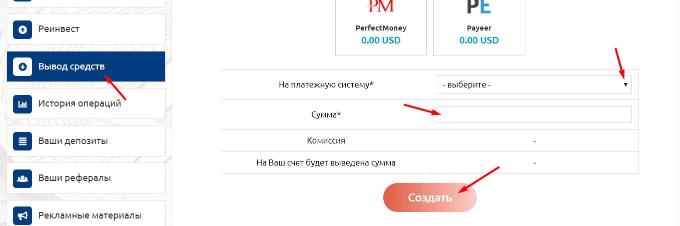 Регистрация в Ritelux 4