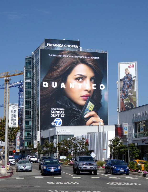 Giant Quantico season 1 billboard Sunset Strip