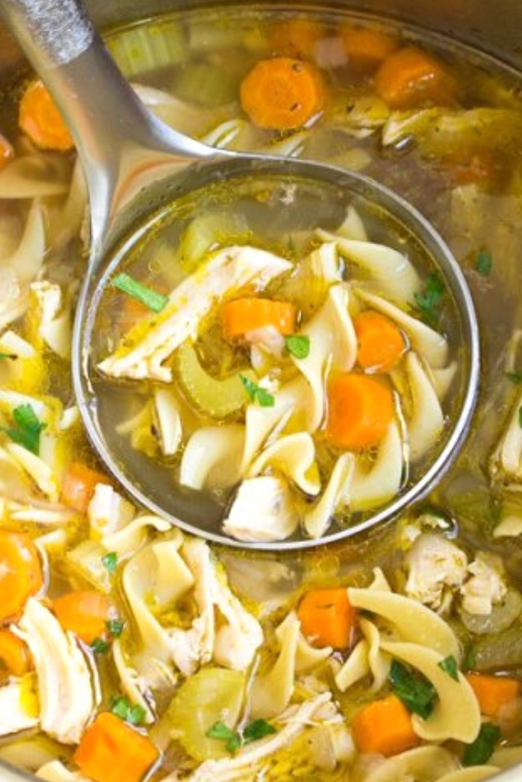 Instant Pot Chicken Noodle Soup Recipe