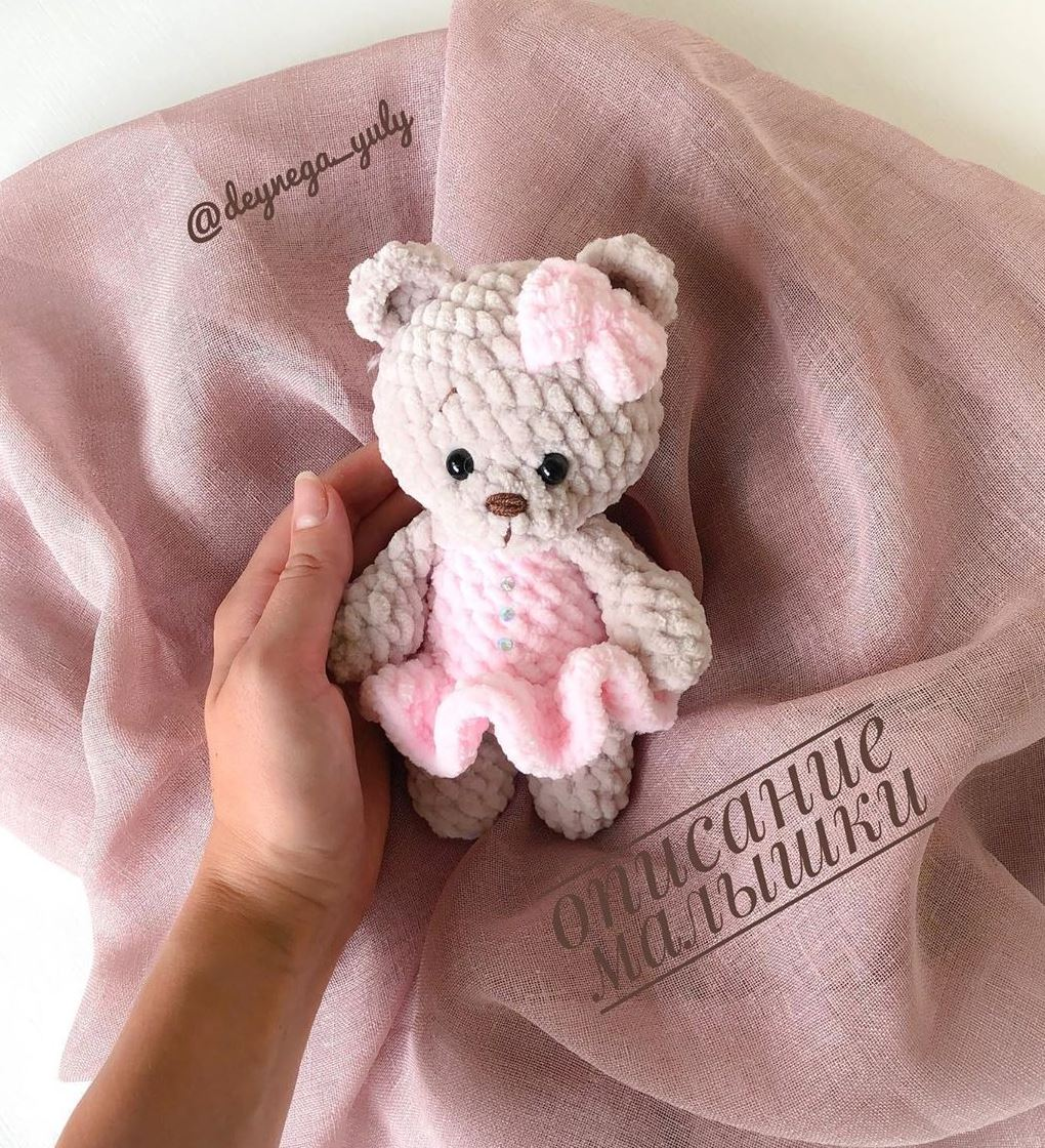 Sweet bunny amigurumi in dress pattern | Amiguroom Toys | 1120x1020