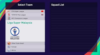 Malaysian league pes21 sp21