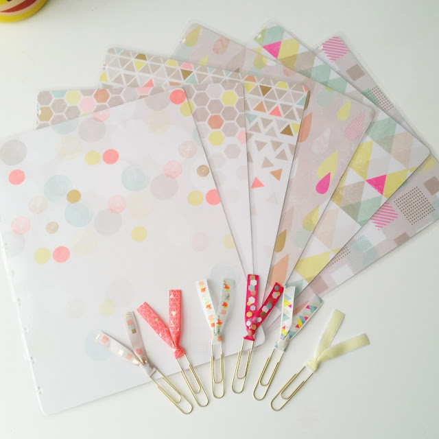 lanes-loves-cute-geometric-neon-pattern-ribbon-paper-clips-planner-covers-collection