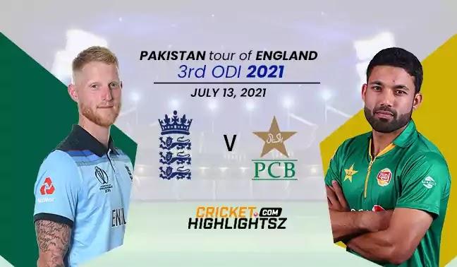 England vs Pakistan 3rd ODI 2021