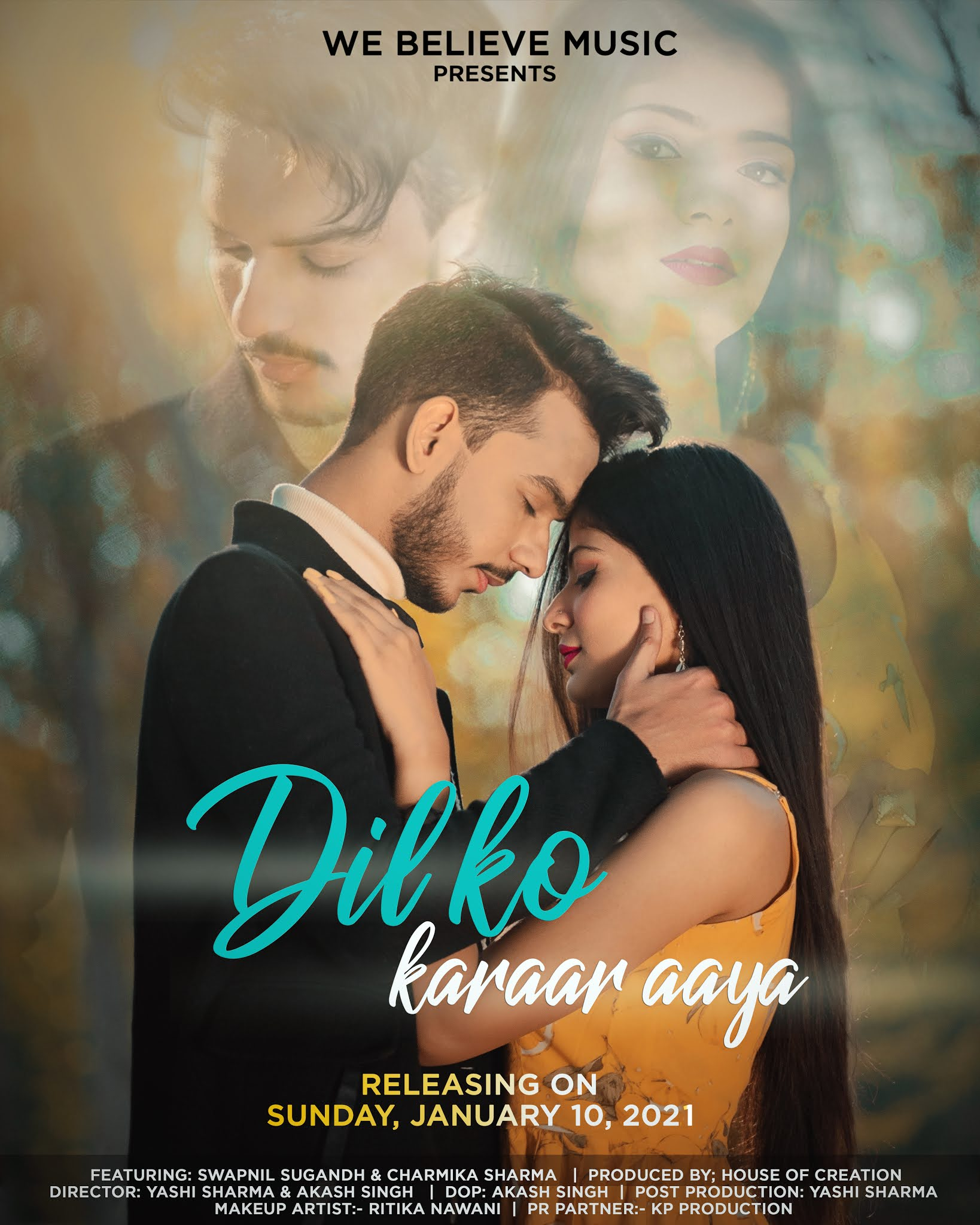 press-release-the-romantic-cover-song-Dil-Ko-Karar-Aaya-will-release-on-January-10-Swapnil-Sugandh-and-Charmika-Sharma-will-be-seen-in-Lead-Artist