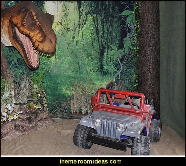 Dinosaur Photography Forest Jungle Fantasy Fairy Set Prop Background Jurassic