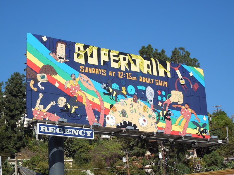 Superjail season 3 Adult Swim billboard
