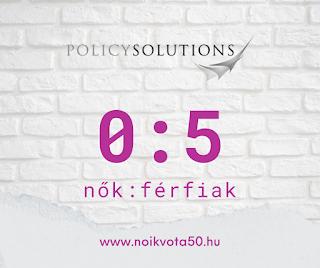 A Policy Solutionsnál 0:5 a nők és férfiak aránya