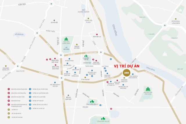 vị trí với nhiều ưu điểm nổi bật dự án Amber Riverside Minh Khai