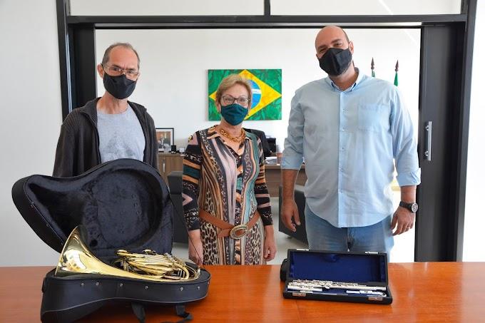 Corporação Maestro Antônio Passarelli recebe dois novos instrumentos em prêmio da Funarte