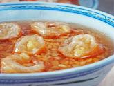 tau suan (split mung bean sweet soup)