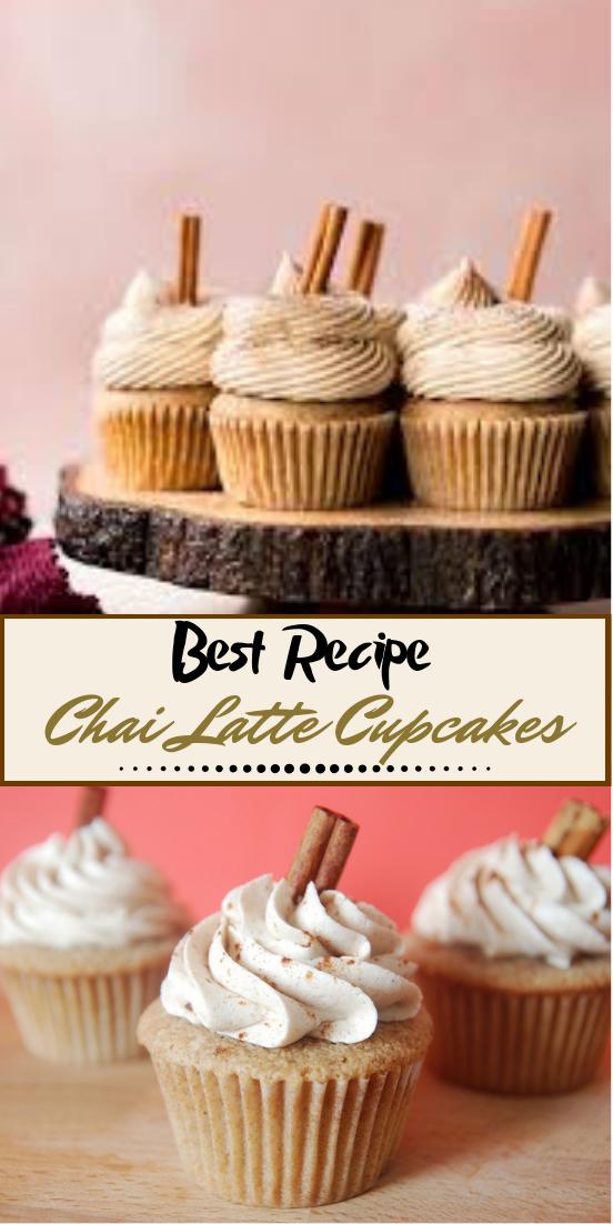 Chai Latte Cupcakes #desserts #cakerecipe #chocolate #fingerfood #easy