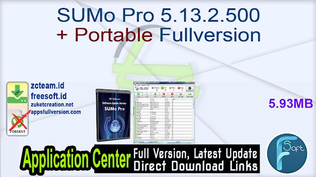 SUMo Pro 5.13.2.500 + Portable Fullversion