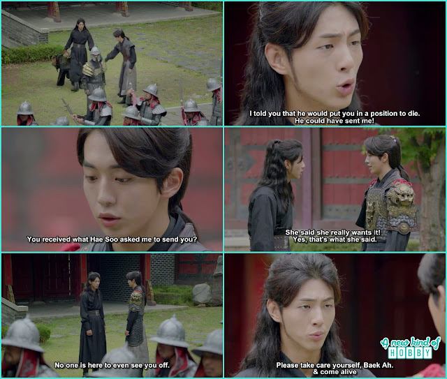 14th prince come to say goodbye to 13th prince - Moon Lovers Scarlet Heart Ryeo - Episode 19