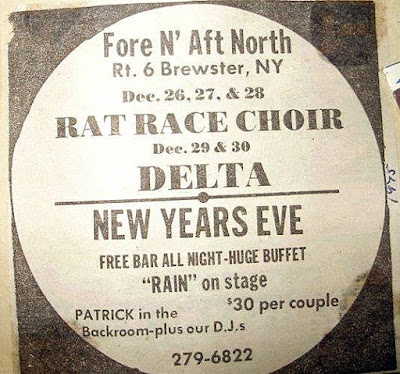 New Years Eve ad for the Brewster Fore 'n Aft with Rat Race Choir 1975