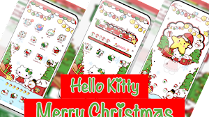 Tema Merry Christmas 2019 Hello Kitty untuk Vivo All Versi