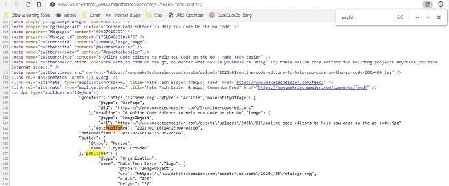 كيف تعرف متى تم نشر كود لصفحة ويب