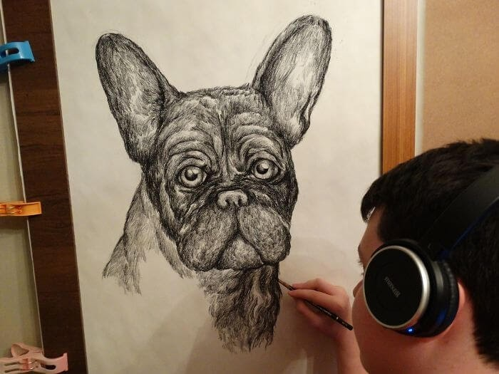 10-French-Bulldog-Dušan-Krtolica-No-Reference-Drawings-come-from-Memory-www-designstack-co