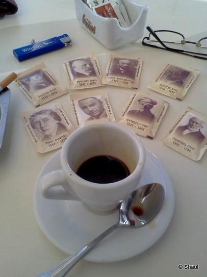 Tel-Aviv, le café avec le sucre...