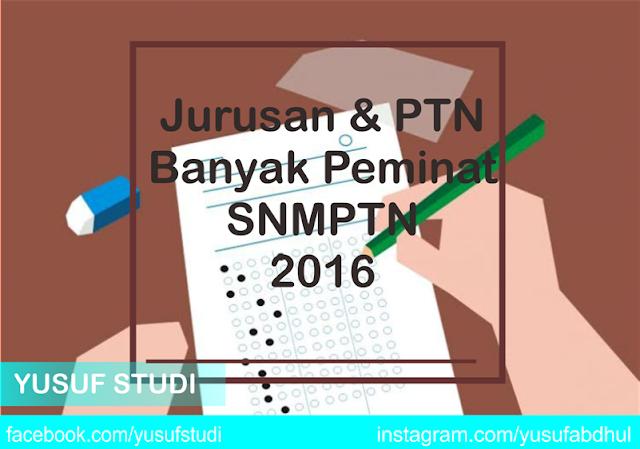 Jurusan dan PTN favorit dengan banyak pendaftar SNMPTN 2016 - Yusuf Studi