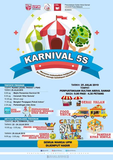 Fair Fit Produk Cik Epal dan Jofliam Berada di Karnival 5S Library UPM Serdang