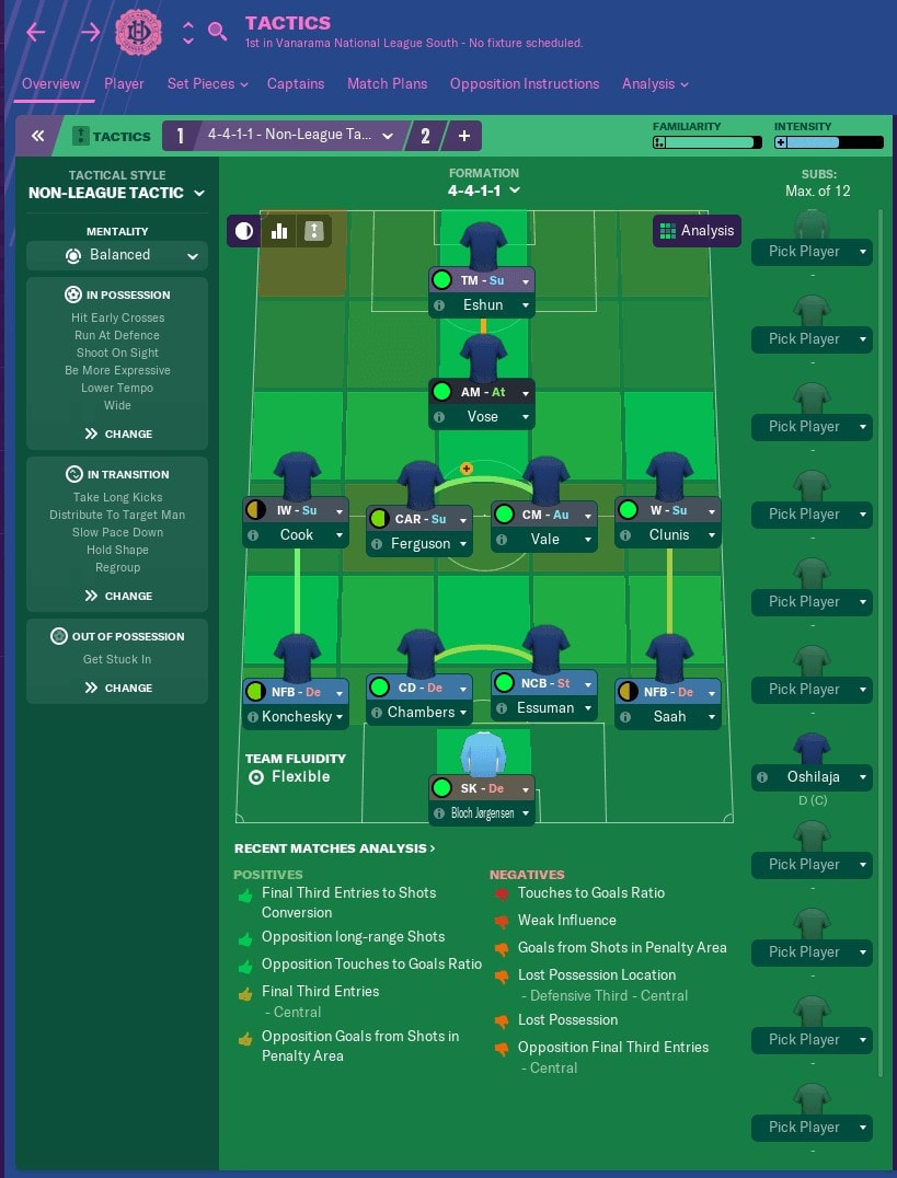 Non-League Tactic Football Manager