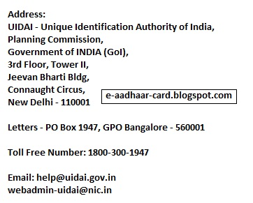 Aadhaar Card Contact
