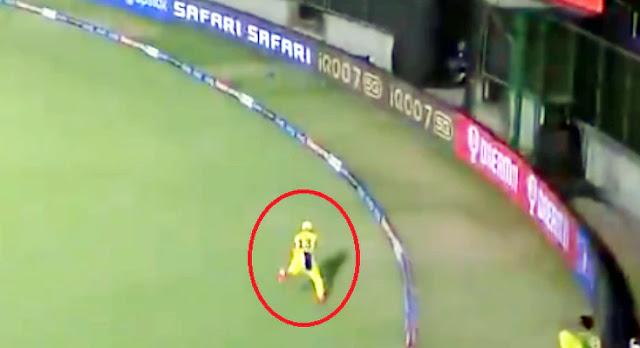 बाउंड्री लाइन पर Faf Du Plessis ने पकड़ा जबर्दस्त कैच