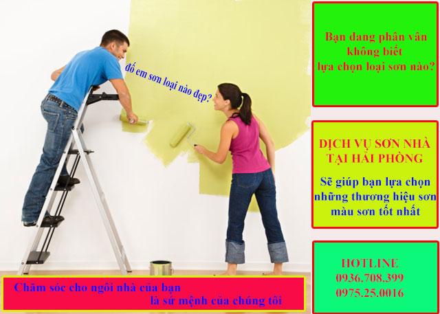 Dịch vụ sơn bả, sửa nhà giá rẻ tại Hải Phòng