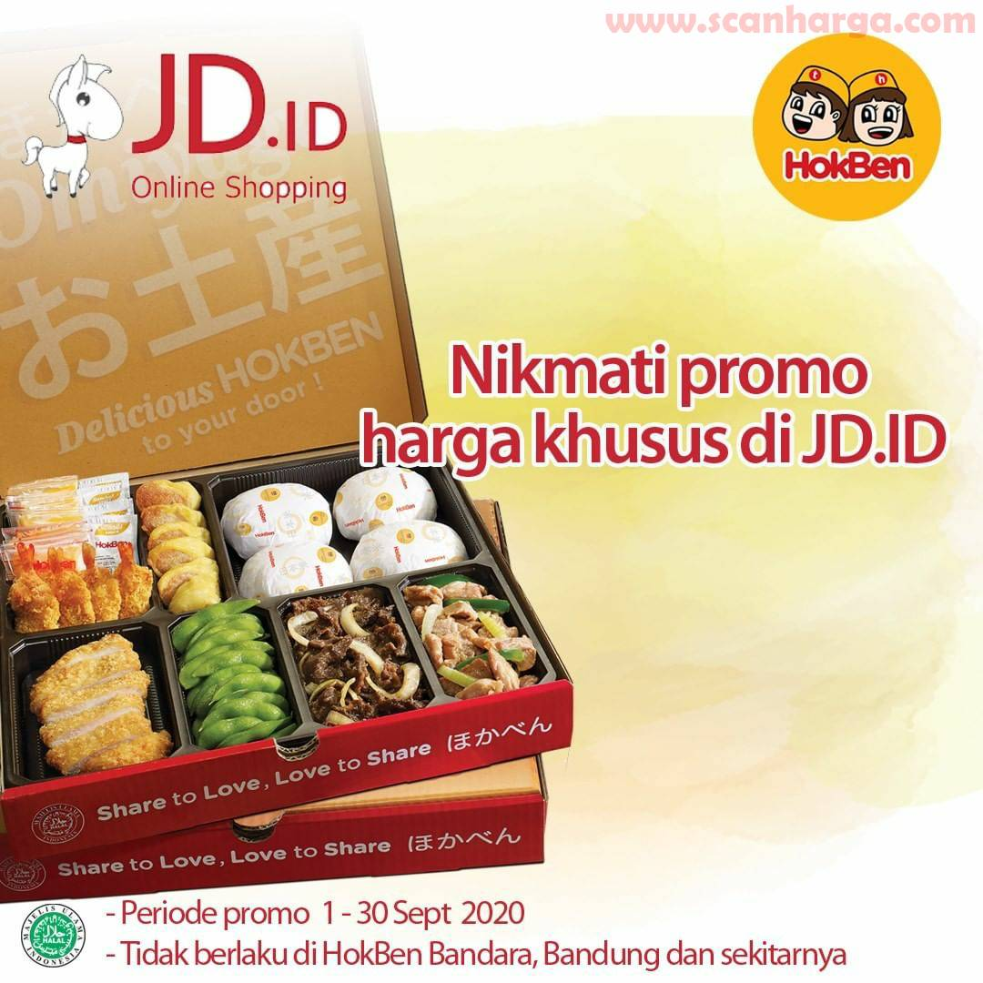 Hokben Promo Harga Khusus Untuk Pembelian di JD.ID