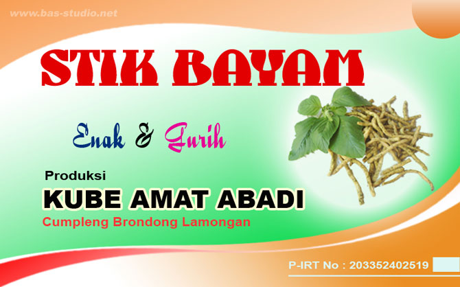 Label Stik Bayam