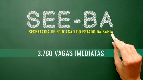SEE - Bahia - Concurso para Professores e Coordenador