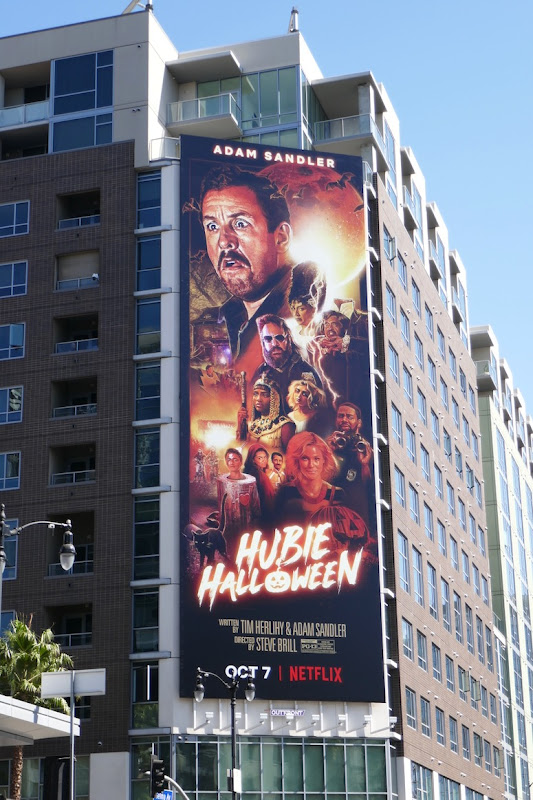 Hubie Halloween Netflix movie billboard