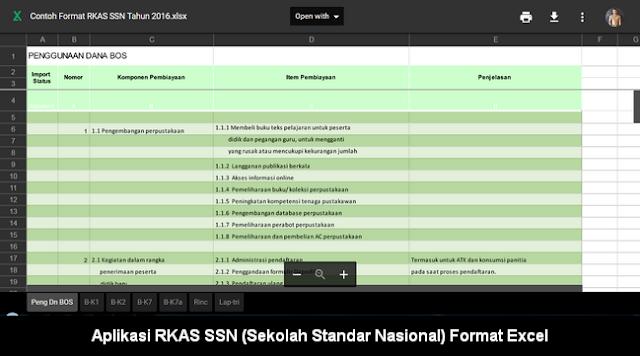 Download Aplikasi RKAS SSN (Sekolah Standar Nasional)