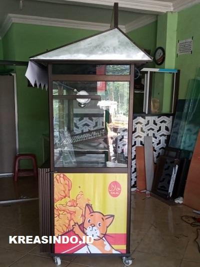 Harga Gerobak Alumunium Fried Chicken Terjangkau Di Jabodetabek Persembahan Kreasindoco