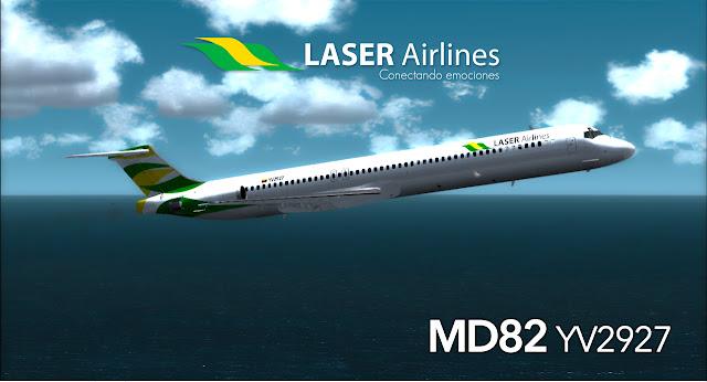 FSX/FS9] MCDONNELL DOUGLAS MD-82 TEXTURA LASER 2018 (MADDOG 2008