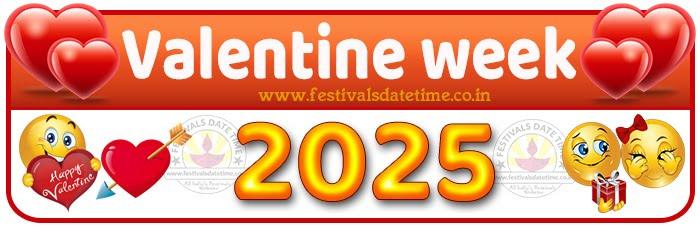 2025 Valentine Week List Calendar, 2025 Valentine Day All Dates & Day