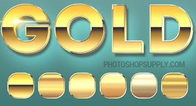 Gold Effect Photoshop