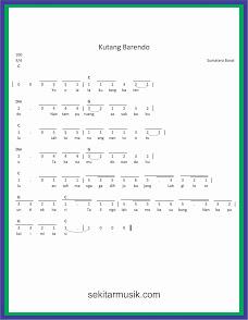 not angka kutang barendo lagu daerah sumatera barat