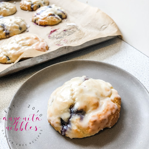 Fresh gluten-free blueberry biscuits or scones from Anyonita Nibbles Gluten-Free