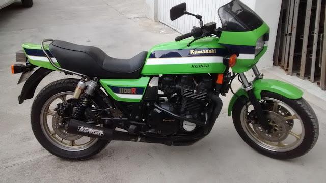 Kawasaki Z1100R 1980s Japanese sports motorbike