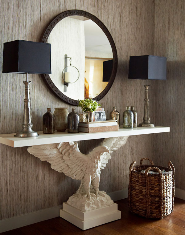 Color Outside the Lines The Foyer  Console Tables