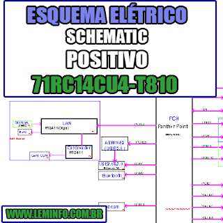 Esquema Elétrico Notebook Placa Mãe POSITIVO 71RC14CU4 - T810 C14CU51 Laptop Manual de Serviço  Service Manual schematic Diagram Notebook Placa Mãe POSITIVO 71RC14CU4 - T810 C14CU51 Laptop   Esquematico Notebook Placa Mãe POSITIVO 71RC14CU4 - T810 C14CU51 Laptop