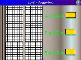Smartboard's Interactive Math Lesson - Multiplying Decimals (notebook file)